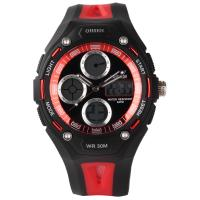 Buy cheap Red Dial 3atm Ladies Wrist Watches 14mm Case , Sport Stopwatch product