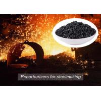 Buy cheap Low Sulfur Graphite Recarburizer / Calcined Anthracite Coal For Steel Making product