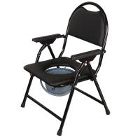 Buy cheap china supplier human disabled folding toilet commode wheel chair for elderly product