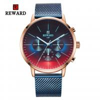 Quality China wholeasale stainless steel mens watches chronograph watch with mesh strap for sale