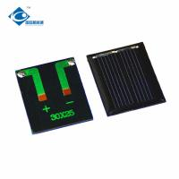 Buy cheap 0.1W 1V chinese solar panel price for Home Solar Power System ZW-2530 1V mini solar photovoltaic panel product