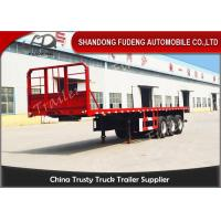 Buy cheap 20 Ft 40 Ft 45 Feet Flatbed Semi Trailer Platform High Bed Trailers For Container Delivery product