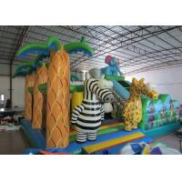 Buy cheap Hot sale inflatable elephant themed fun city inflatable safari park jumping house with slide on sale product