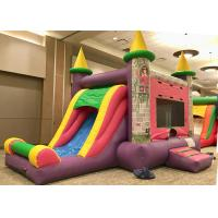 Buy cheap Commercial Grade Bounce House Slide Combo , Pink Princess Girls Big Bounce House product