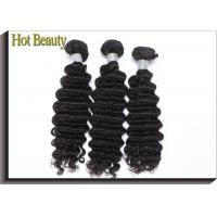 Buy cheap 100% Cuticle Aligned Virgin Peruvian Hair Extension Deep Wave Natural and Smooth from wholesalers