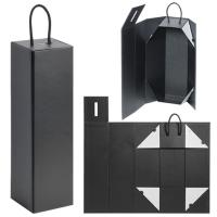 Buy cheap Cardboard Foldable Gift Box / Leatherette Wine Bottle Packaging With Magnet Closure product