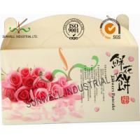 Buy cheap Flower Cookies Cardboard Food Packaging Boxes , Disposable Cardboard Food Containers product