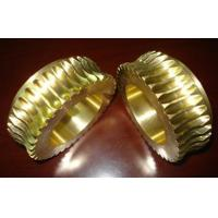 Buy cheap Durable Gold Brass Worm wheel / gear hobbing services and CNC Turning product