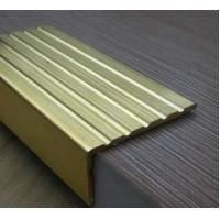 Buy cheap copper alloy brass stair nosing floor trims stair rods profiles C38500 CuZn39Pb3  CuZn39Pb2 CW612N C37700 product