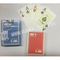 Buy cheap Gambling Gadget Naipes Fournier Plastic 2818 Red / Blue Jumbo Face Playing Cards product