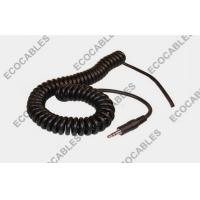 Buy cheap PVC Spiral Power Cable Coiled Cord 26AWG With Audio Connector product