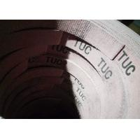 China Reddish Asbestos Woven Brake Lining Roll Brass Wire For Farm Tractor on sale