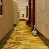 Buy cheap 4m Width Golden Hotel Corridor Decorative Axminster Carpet For Sales With Low Prices product
