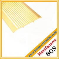 Quality brass extrusion profiles for floor and stairs nosing stair edging trims for sale