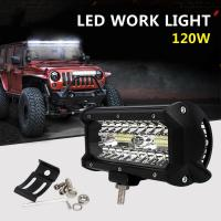 China Hottest Selling 60W 120W led work light offroad driving light SUV 4x4 ATVs trucks led driving lights on sale