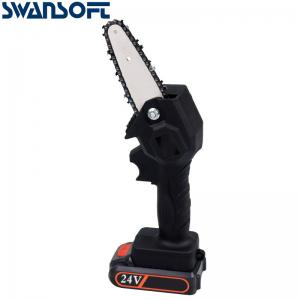 Buy cheap Swansoft 24V Mini Chainsaw battery 5-Inch Cordless Electric Portable Chainsaw with Brushless Motor product