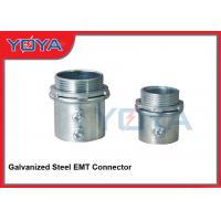 Buy cheap Electrical Metallic Tubing Galvanized Steel Conduit Fittings , EMT Steel Pipe Connector from wholesalers