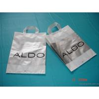 Quality Personalised Shopping Recycled Plastic Bag Rope Handled Carrier Bags Biodegradea for sale