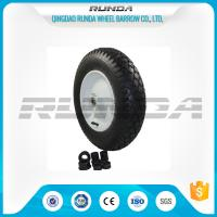 Buy cheap Super Elasticity Heavy Duty Rubber Wheels 4.00-8 , Rubber Caster Wheels Metal Rim product