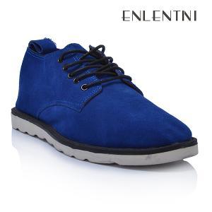 China de calidad superior ate para arriba el color azul 2013 del zapato para hombre casual del ante wholesale