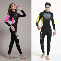 China Best quality 3mm diving suits lovers wetsuits black with yellow 3mm high elasicity wholesale on sale