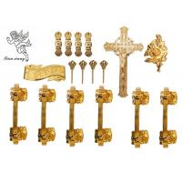 Gold / Silver / Copper Burial Coffin Accessories , Casket Hardware Suppliers