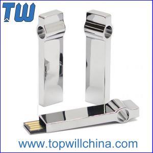 Buy cheap Твердый привод 64ГБ Усб кольца для ключей металла для дела освобождает подарок продвижения типографии логотипа product