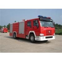 Buy cheap Sinotruk HOWO Engine Motorized Fire Truck , Pumper Tanker Fire Trucks Load Max 26000kg product