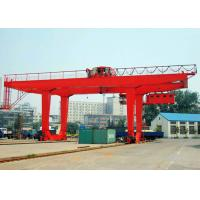 Buy cheap 50 Ton Container Double Beam Gantry Crane With Spreader Overload Protection product