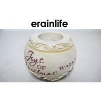 Buy cheap Beige Round Text Polyresin Candle Stick Holders For Festaurant / Home / Wedding product