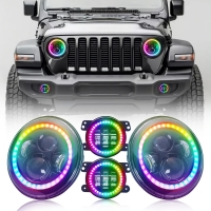 Buy cheap 4 Inch Angel Eye Halo Fog Lights Round RGB Halo Ring Headlight Kit product