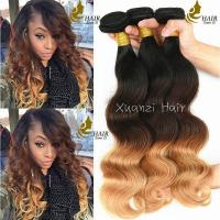 Buy cheap Body Wave Colored Virgin Hair Extensions 95g - 105g Customized Color BW - 01 product
