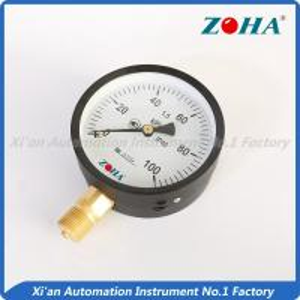 China 100Kpa Air Economy Pressure Gauge / Hydraulic low Pressure Gauge Meter on sale