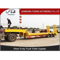Buy cheap Heavy duty 3 axles spring ramp low loader truck trailer for sale product