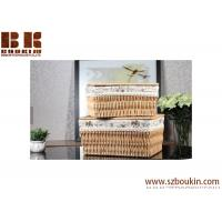 Buy cheap Popular eco-friendly square PVC woven storage basket for flower gift, baby gift product