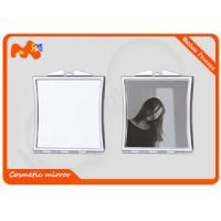 Buy cheap Square Cosmetic Sublimation Compact Mirror For Girls Iron Plating product