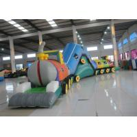 Buy cheap Smooth Funny Inflatable Obstacle Courses High Durability 14 X 1.8 X 3.3m Customized product