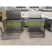 Mobile Heated Fast Food Stainless Steel Soak Tank Chemical With Heater 2KW