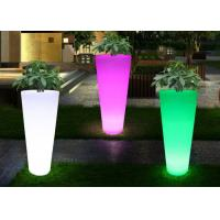 China Waterproof Color Change Led Flower Pots , Outdoor Balcony Light Up Flower Pots wholesale