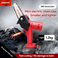 Buy cheap Swansoft 4inch 24V Mini Chainsaw Cordless Electric Portable Chainsaw with Brushless Motor product