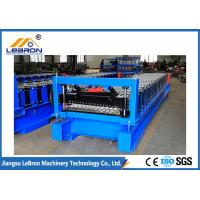 Buy cheap 825 model Blue Color Corrugated Sheet Roll Forming Machine 5.5KW Full Automatic from wholesalers