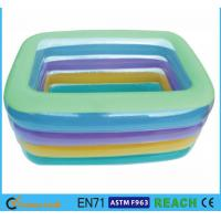 Buy cheap Eco Friendly PVC OEM&ODM Square Swimming Pools,Crystal Blue Inflatable Baby Pool from wholesalers