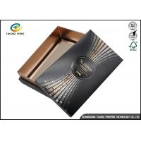Buy cheap Wine Gift Packaging Cardboard Paper Drawer Box Black Customizable product