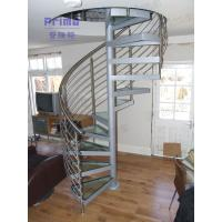 Buy cheap Laminated Glass Penal Spiral Staircase / Glass Stairs product