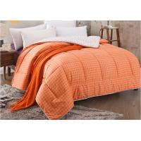 Buy cheap Pinted Stripe Microfiber Quilt Comforter Piping Frame Cutting Through product