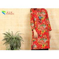 Red Cotton Long Sleeve Fancy Dresses