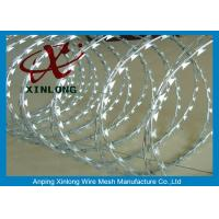 Buy cheap Concertina Galvanized Razor Barbed Wire For Highway / Farm / Garden product