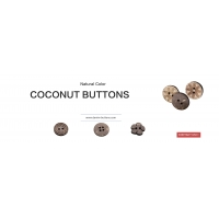 coconut buttons 2 hole or 4 holes