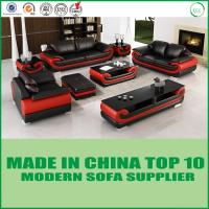 China Black Color Wooden Leisure Furniture Genuine Leather Divaani Sofa 1+2+3 on sale