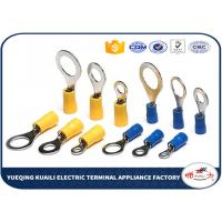 Buy cheap Brass / Copper Insulated Crimp Wire Ring Terminal 22 - 16 AWG High Conductivity product